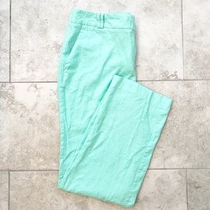 Cato mint green linen straight leg trousers